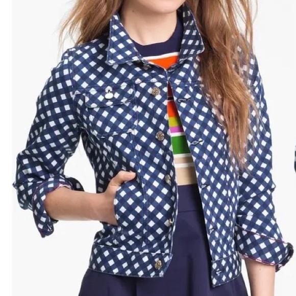 Kate Spade Broome Street Twill Gingham Jacket